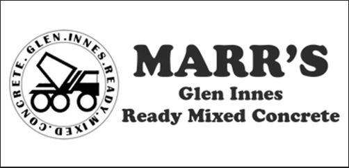 Marr's Glen Innes Ready Mixed Concrete Logo - The Celtic Informer